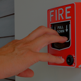 Иллюстрация к услуге Fire alarm notification system and people evacuation